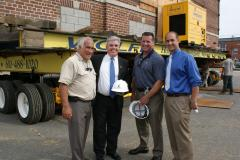 (left to right): Mayor Paul Pontieri; County Executive Steve Bellone; TRITEC COO Rob Loscalzo, and Legislator Rob Calarco