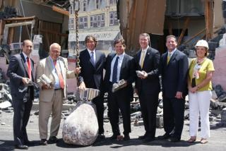 Leg. Rob Calarco (far left) with TRITEC Real Estate Principals and COO and representatives from town, county and state government (center)